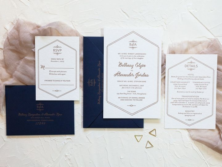 This modern geometric invitati