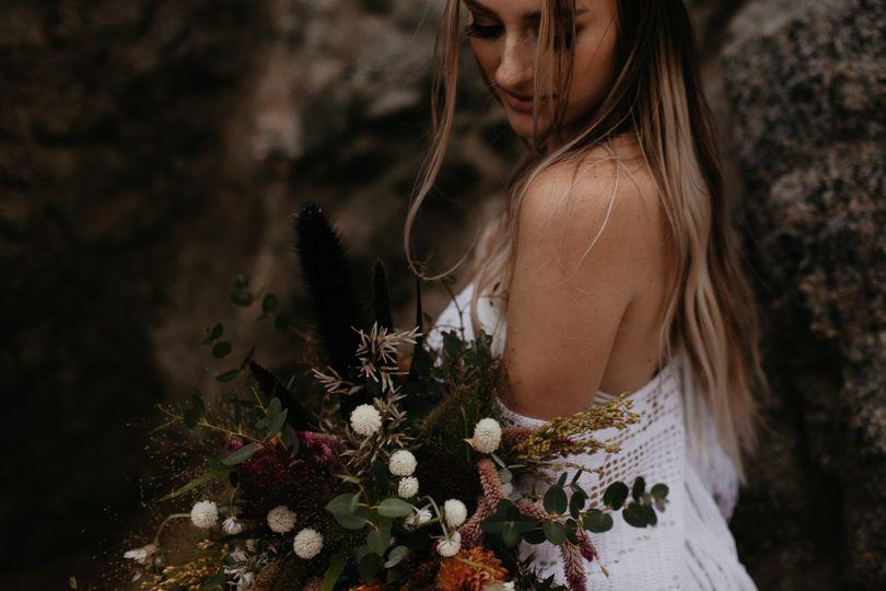 Free spirited bride