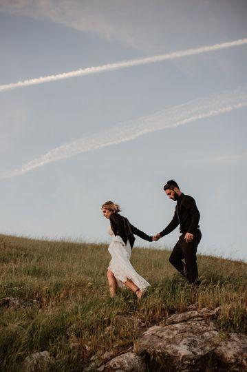 Bride and Groom Adventuring