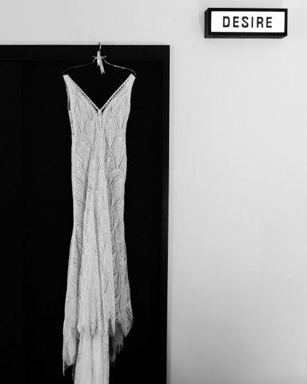 Dress in guestroom