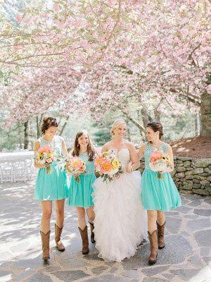bridesmaids in cowboy boots 300x400