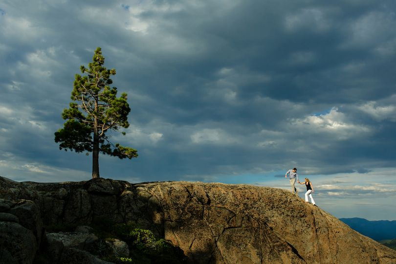 Lake Tahoe engagement photos.