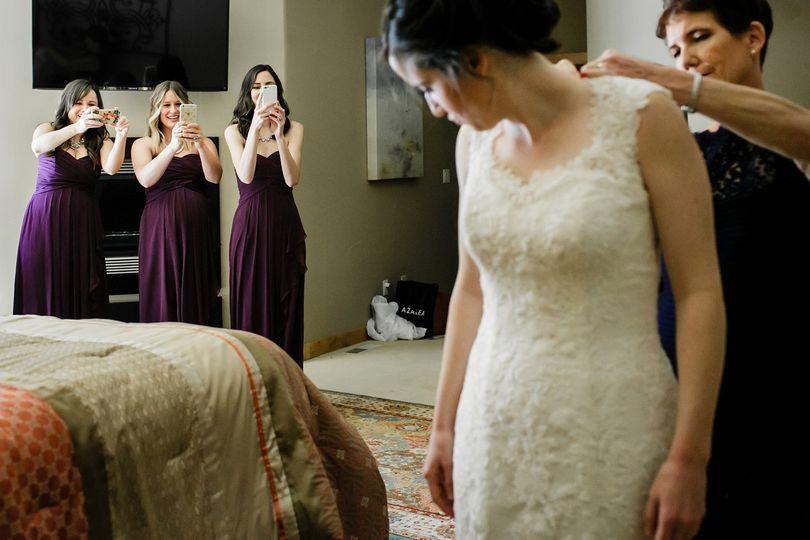 Bridesmaids shoot the moment!