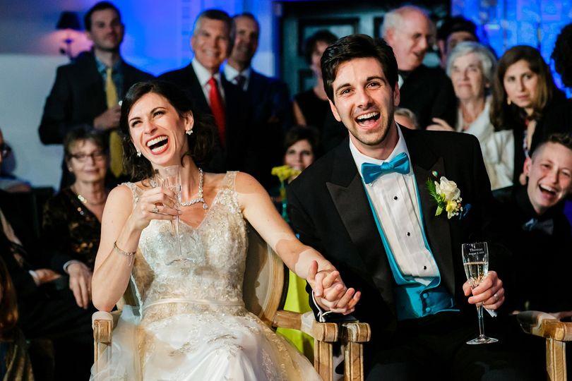 Bay Area wedding reception.
