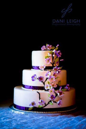 Floral violet cake