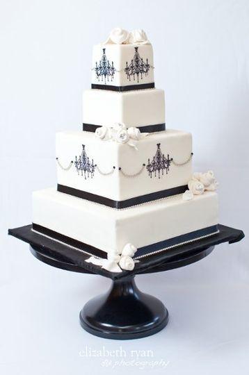 Beautiful square cake