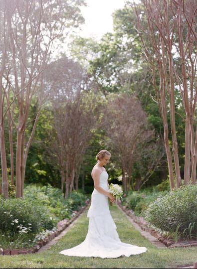 Bride in the garden