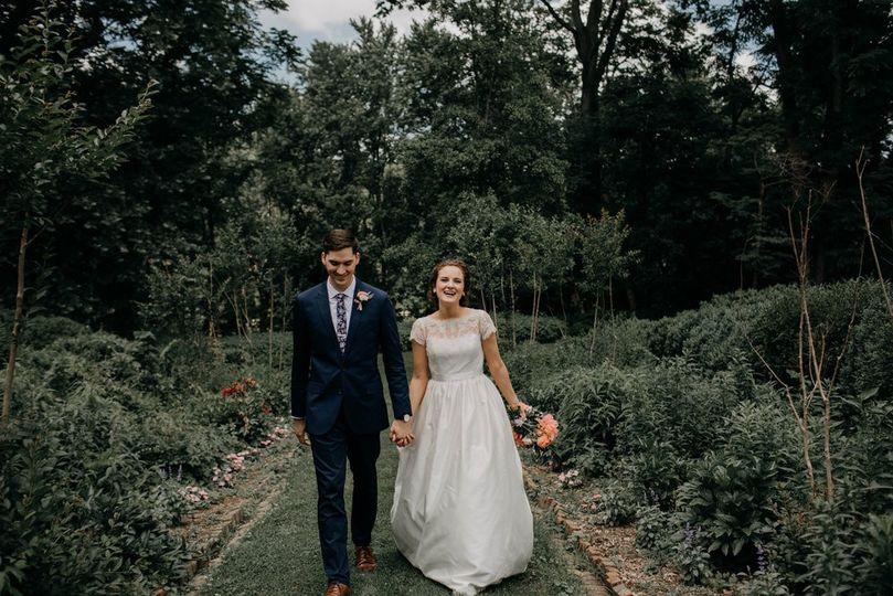Couple on main garden path