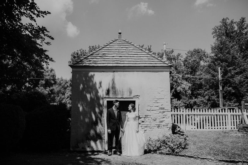 Couple by the Smokehouse