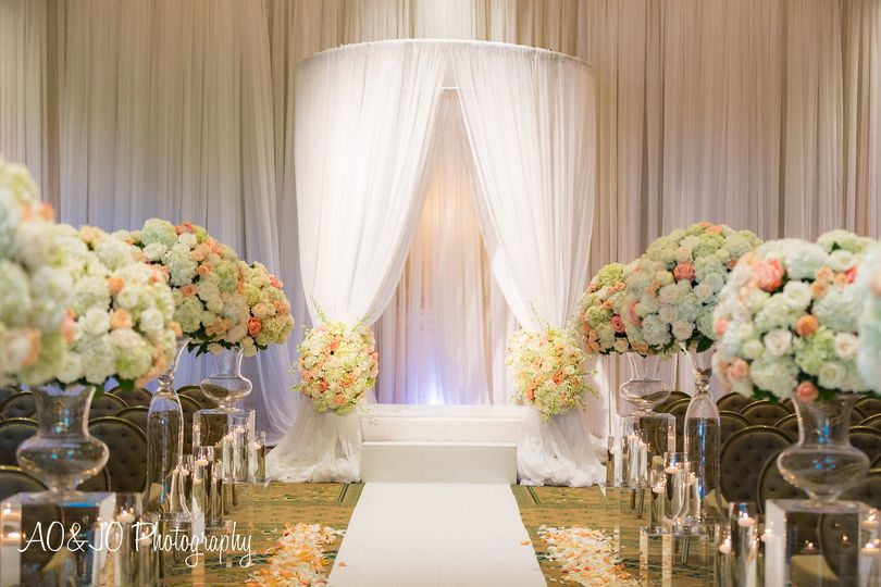 Floral aisle and arch decor