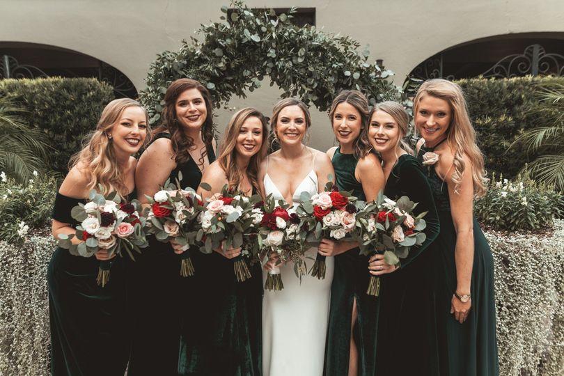 Emerald bridal party