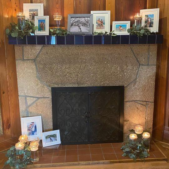 Georgous mantel display