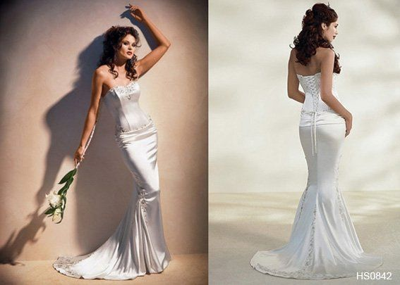 This ultra sexy wedding gown will have tongues wagging for all the right reasons!  A day to...