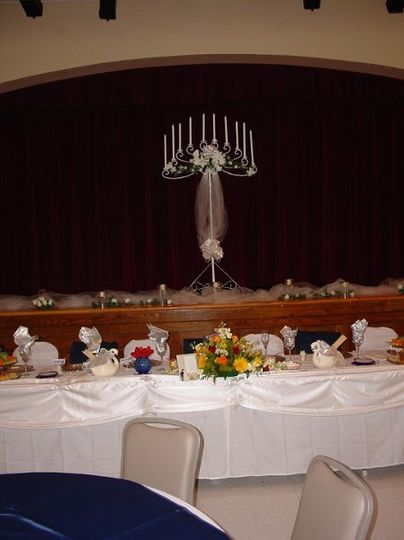 One of our exclusive offerings is the Bridal Table. Completely set and decorated for the newly weds...