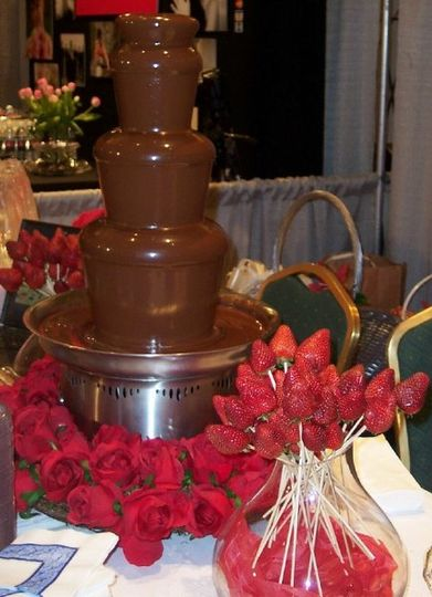 The most recent rage is the chocolate fountain. Why? Its scrumptious and its a conversation piece. A...