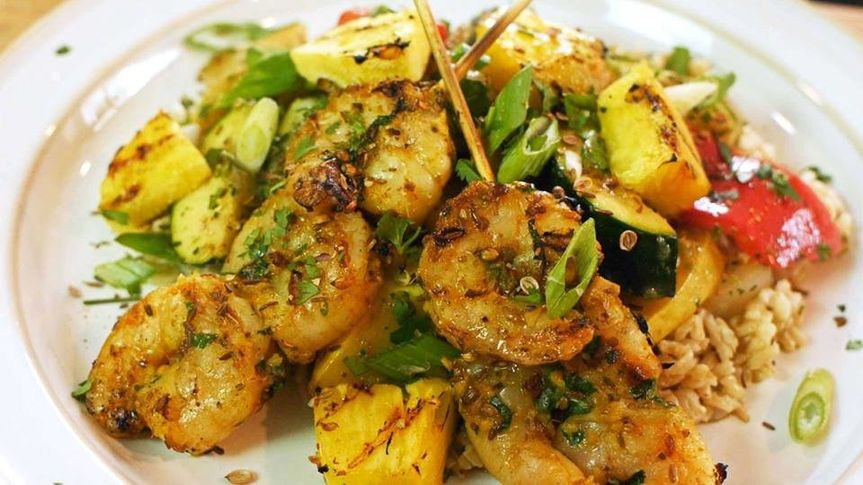 Coconut Curry Shrimp is a Crystal Lake Catering Company specialty, and we can cater for any backyard...