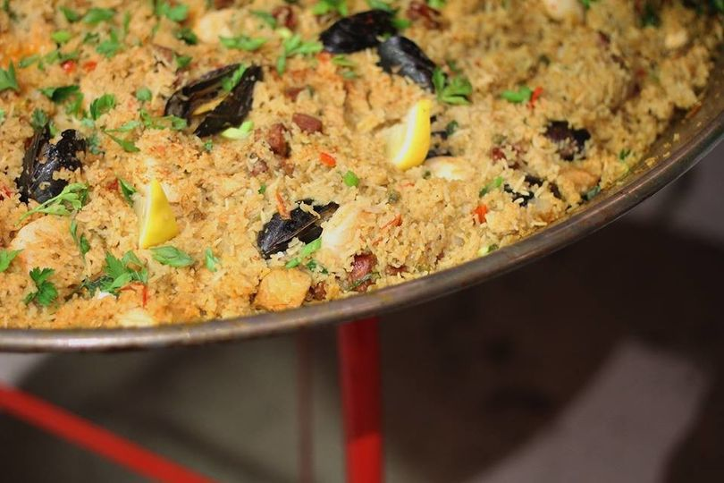 """Looking to surprise your guests by serving something fun and interactive? We make our """"Jim-balaya""""..."""