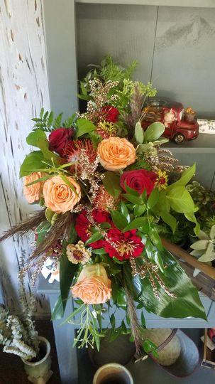 Fall tones bouquet