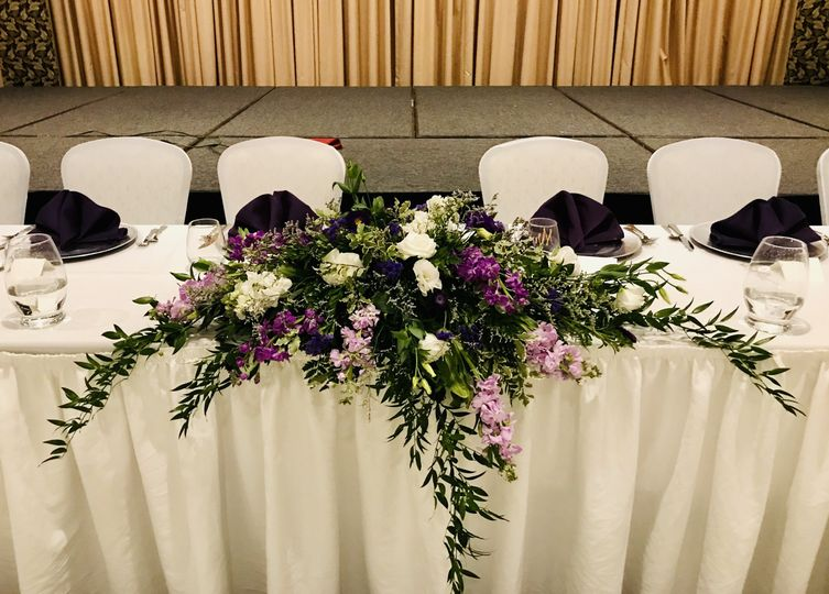 Lavender head table piece