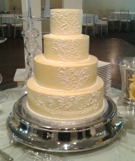 Tmx 1411651099376 Yellow Piped Cake Atlanta wedding