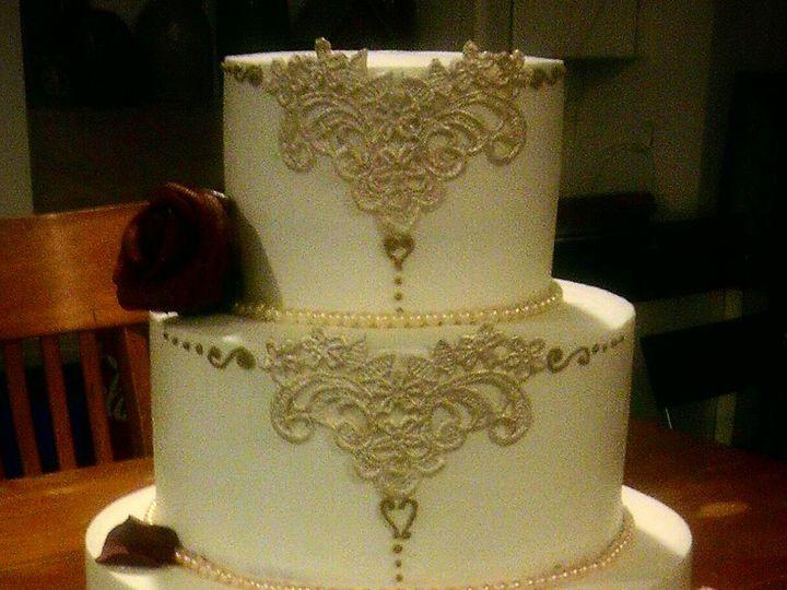 Tmx 1425672384987 Beauty And The Beast Wedding Cake Atlanta wedding