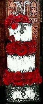 Tmx 1425672444680 Gothic Black And Red Wedding Cake Atlanta wedding