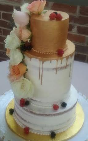 Tmx 1476476890827 Gold Drip Naked Cake Atlanta wedding