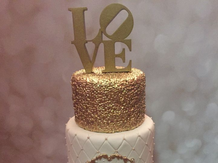Tmx 1485307278904 Goldwedding Middle Village, New York wedding cake