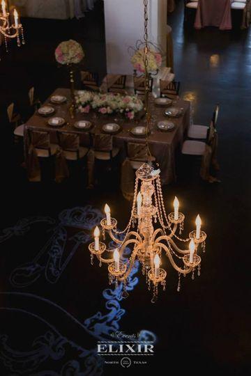 Venue chandelier