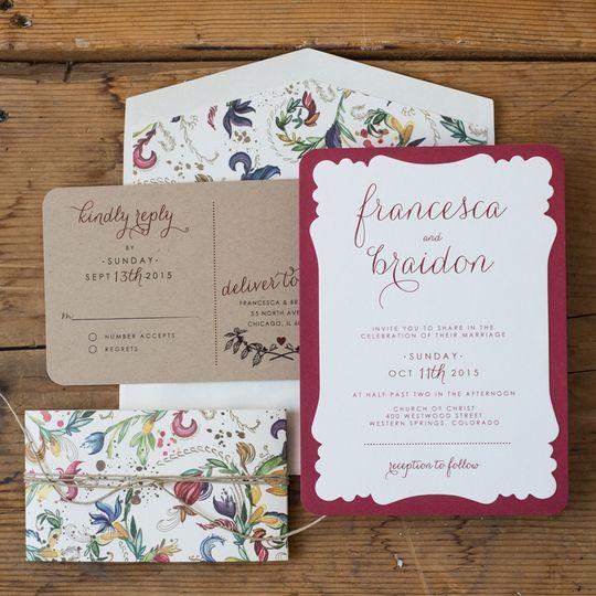 shab design studio inc wedding invitations illinois chicago