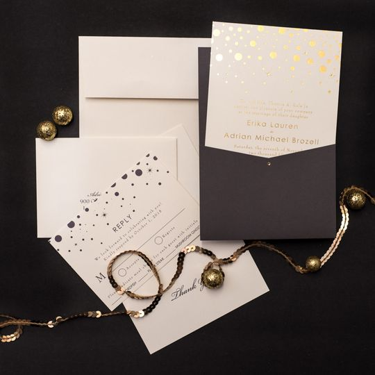 800x800 1485361117424 gold and charcoal wedding invitations