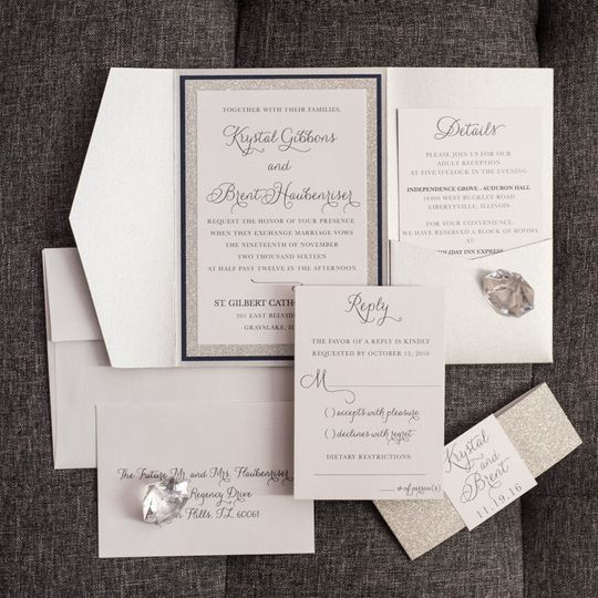 800x800 1485361147643 silver and navy bling wedding invitations