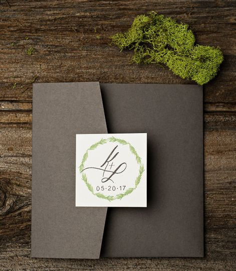 Square Pocket Fold Invitation
