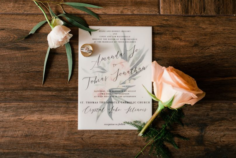 Rustic Vellum Beauty Invite