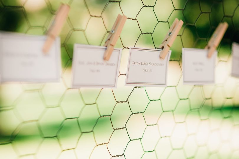 Place cards up close