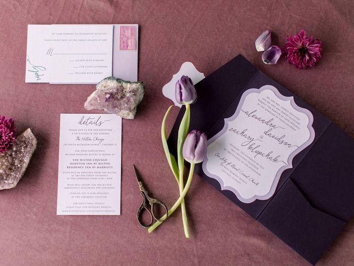 Tmx Amethyst Love 51 501485 Elgin, Illinois wedding invitation