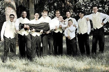 The groom with his groomsmens