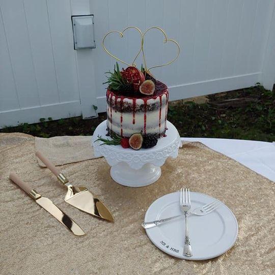 Semi naked fresh fruit cake