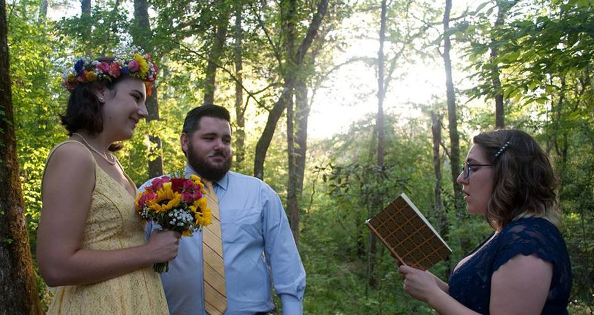Ceremony in forest