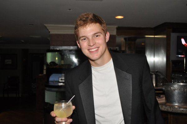Mike enjoying a beverage