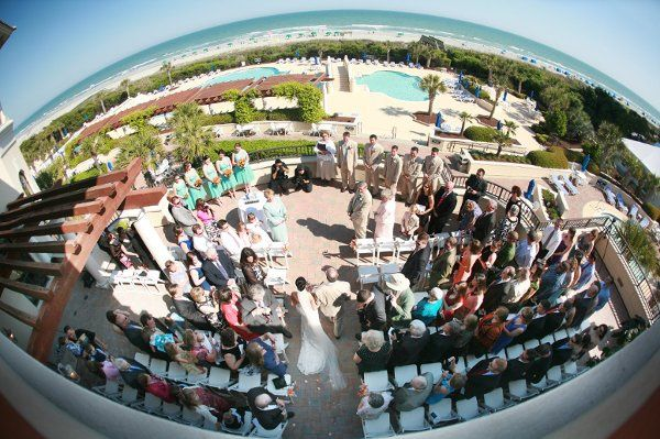 One of our creative partners used his fisheye lense to take this unique photo of our south terrace...