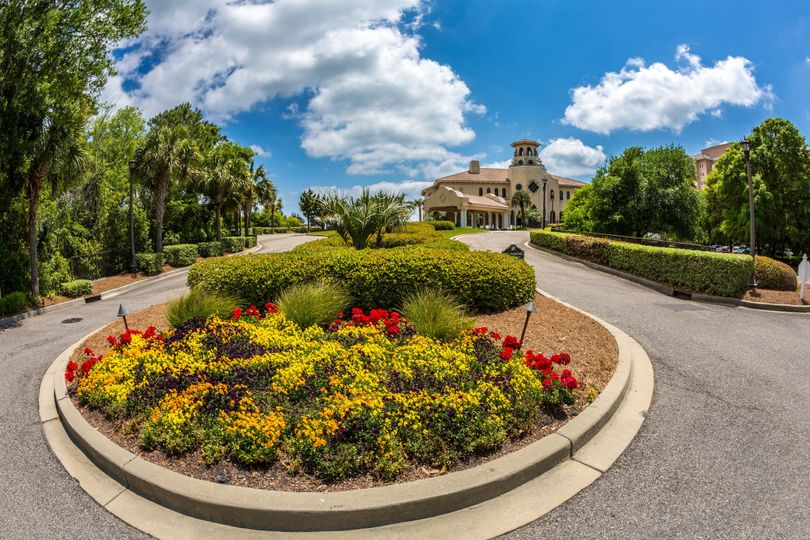 The perfect amount of sunshine and clouds make the walk to the ocean club so tranquil and bright!