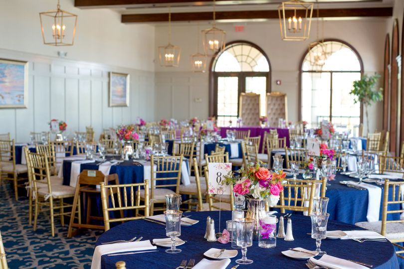 Royal blue and purple bring together this bright summer wedding! - Don't forget to look in the...