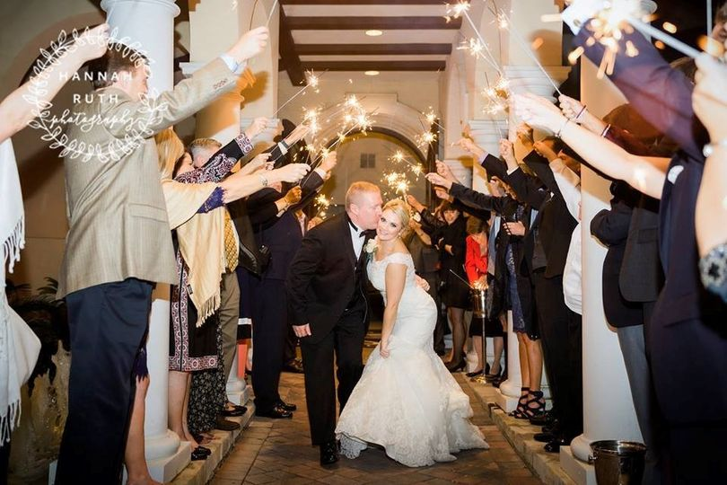 Send the couple into the night by the sparkling light!