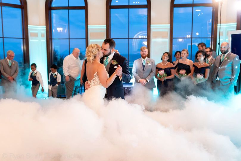 No first dance is complete without the cloud effect