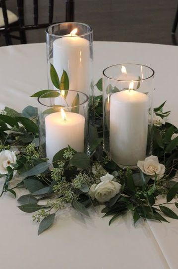 Refined candle centerpiece