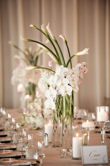 Long table centerpiece candles