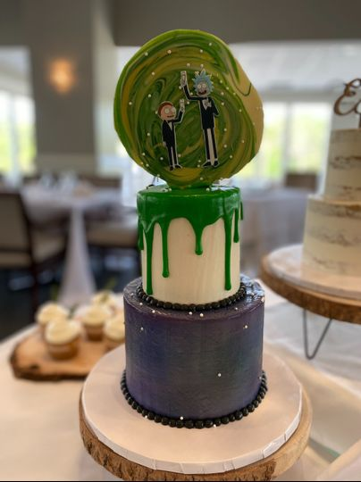 Rick & Morty Grooms cake