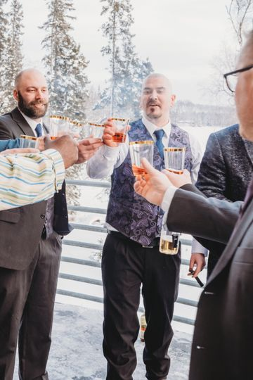 A Toast With His Guys