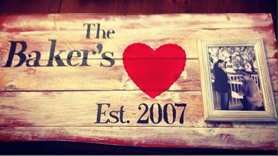 Custom Made Rustic Name Sign  Great Anniversary or Wedding Gift  CUSTOM ORDERS: All orders are...
